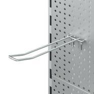 Двойной крючок для перфорированной стенки с проволочным креплением