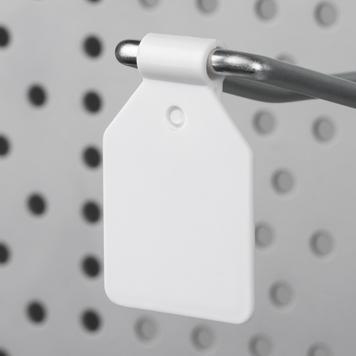 Пластиковий цінник для навісного гачка