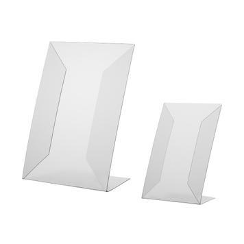 L-підставка з жорсткогоt-ПВХ,  A4 - A5, вертикальний чи горизонтальний формат
