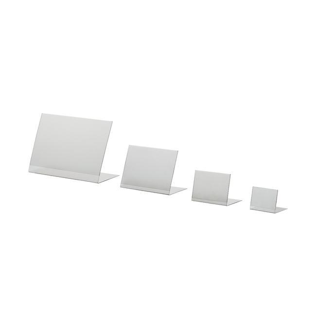 ПВХ L-підставка, формат A6 - A8, вертикальний чи горизонтальний формат
