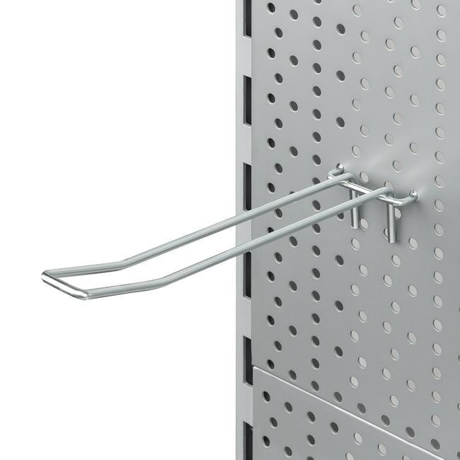 Подвійний гачок для перфорованої стінки з кріпленням з дроту
