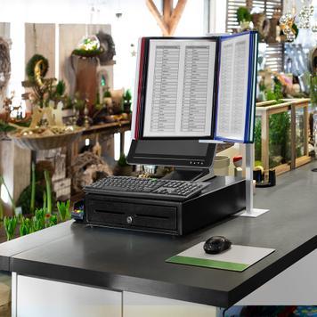 Перекидна інформаційна система для каси DIN A4