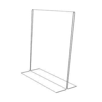 """Підставка піл меню """"T-Form"""" в різних форматах, прозора, товщина 2 мм"""